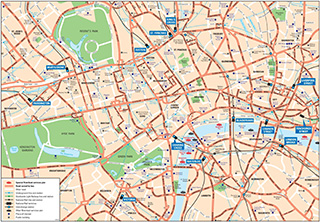 Map of Major Streets of London