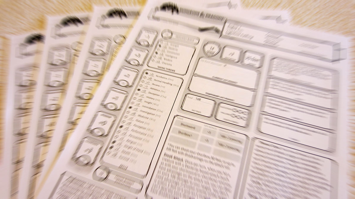 Conferindo a ficha de personagem D&D 5e - RPG Next