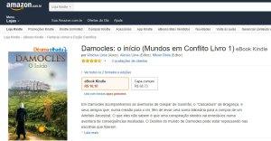 Imagem do livro Damocles O início no site da Amazon.com.br