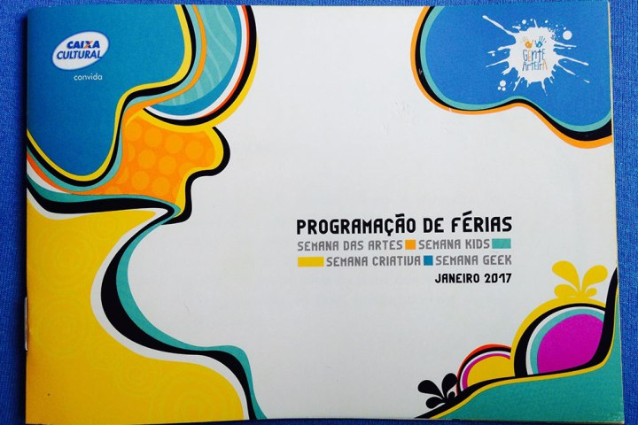 Capa Programação de Férias Caixa Cultural Curitiba