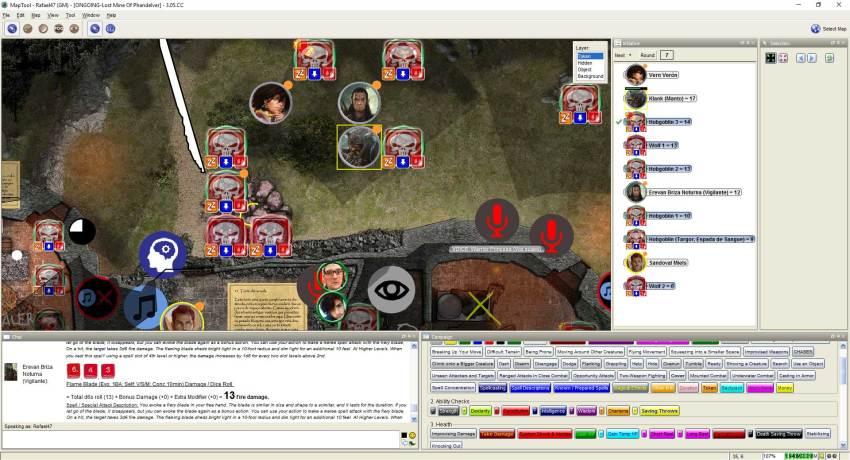 Imagem do Maptool - Fim de combate contra Hobgoblins