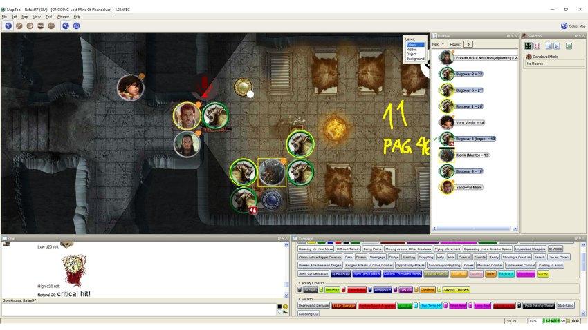 Imagem do Maptool - Combate com Bugbears