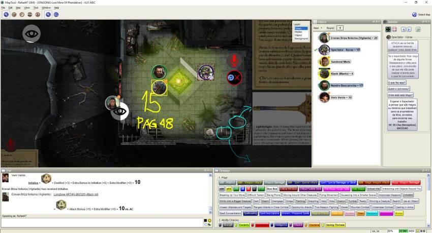 Imagem do Maptool - Encontrando a Forja da Magia