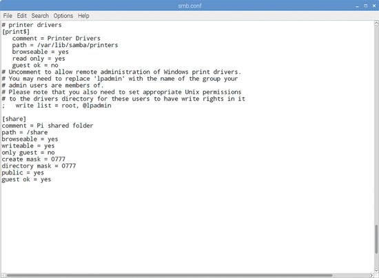 Samba Config files