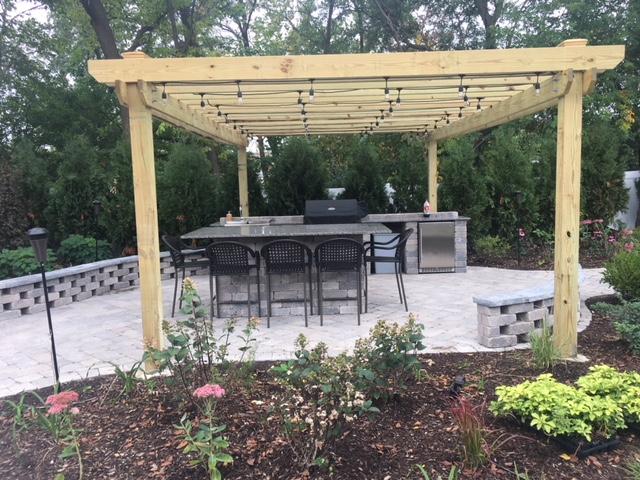 Outdoor Brick Kitchen Design