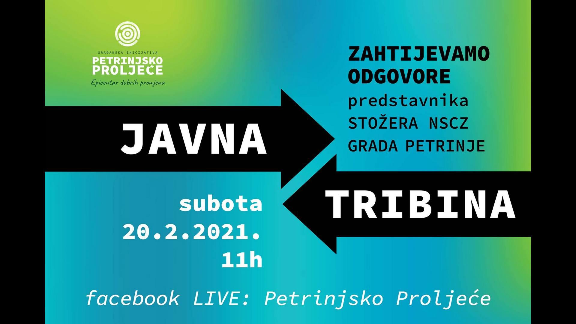 Javna tribina inicijative građana Petrinjsko proljeće