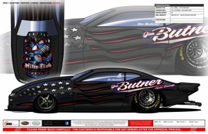 Pro Stock driver Bo Butner's car for the 2019 season