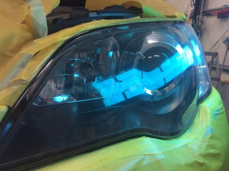 レガシィ ヘッドライト プロテクションフィルム 黄ばみ 曇り コーティング