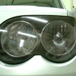 ヘッドライトプロテクションフィルム ライトスモーク 貼り付け 黄ばみ 曇り
