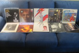A sample of Bowie's work (gatefold in the middle is the inner gatefold art for 1973's Aladdin Sane)