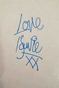 Bowie fan club signature 1973