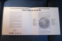 Inside front cover of Ryko promotional press kit/LP/CD of 'Ziggy Stardust'