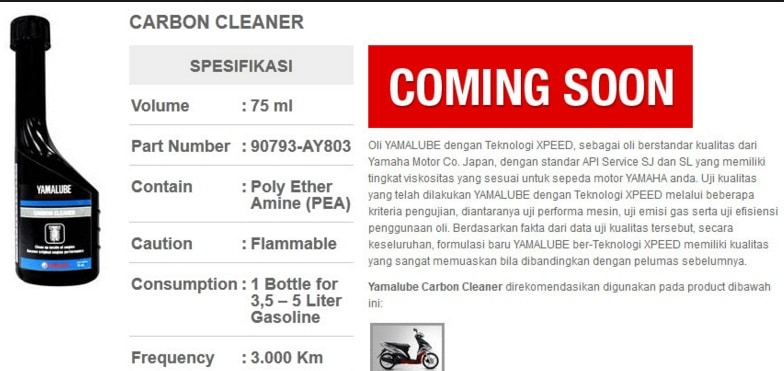 Review Yamaha Carbon Cleaner