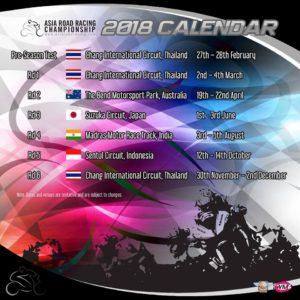 Jadwal ARRC 2018