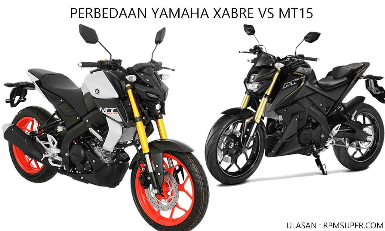 Perbedaan Yamaha Xabre Vs MT15