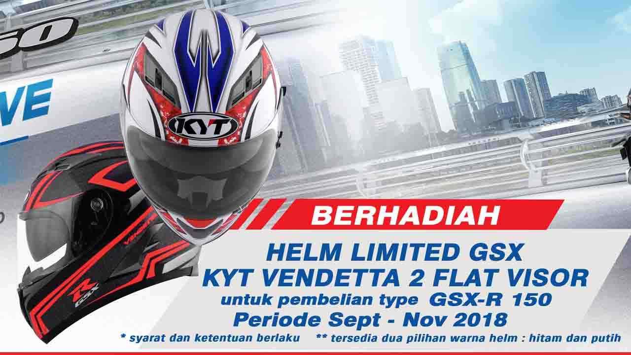 Gratis KYT Vendetta 2 Untuk Pembeli GSX R150