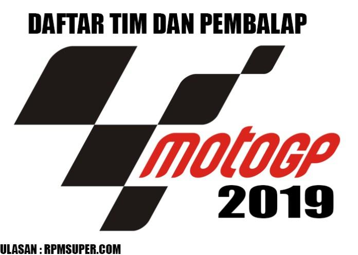 Daftar Pembalap MotoGP 2019