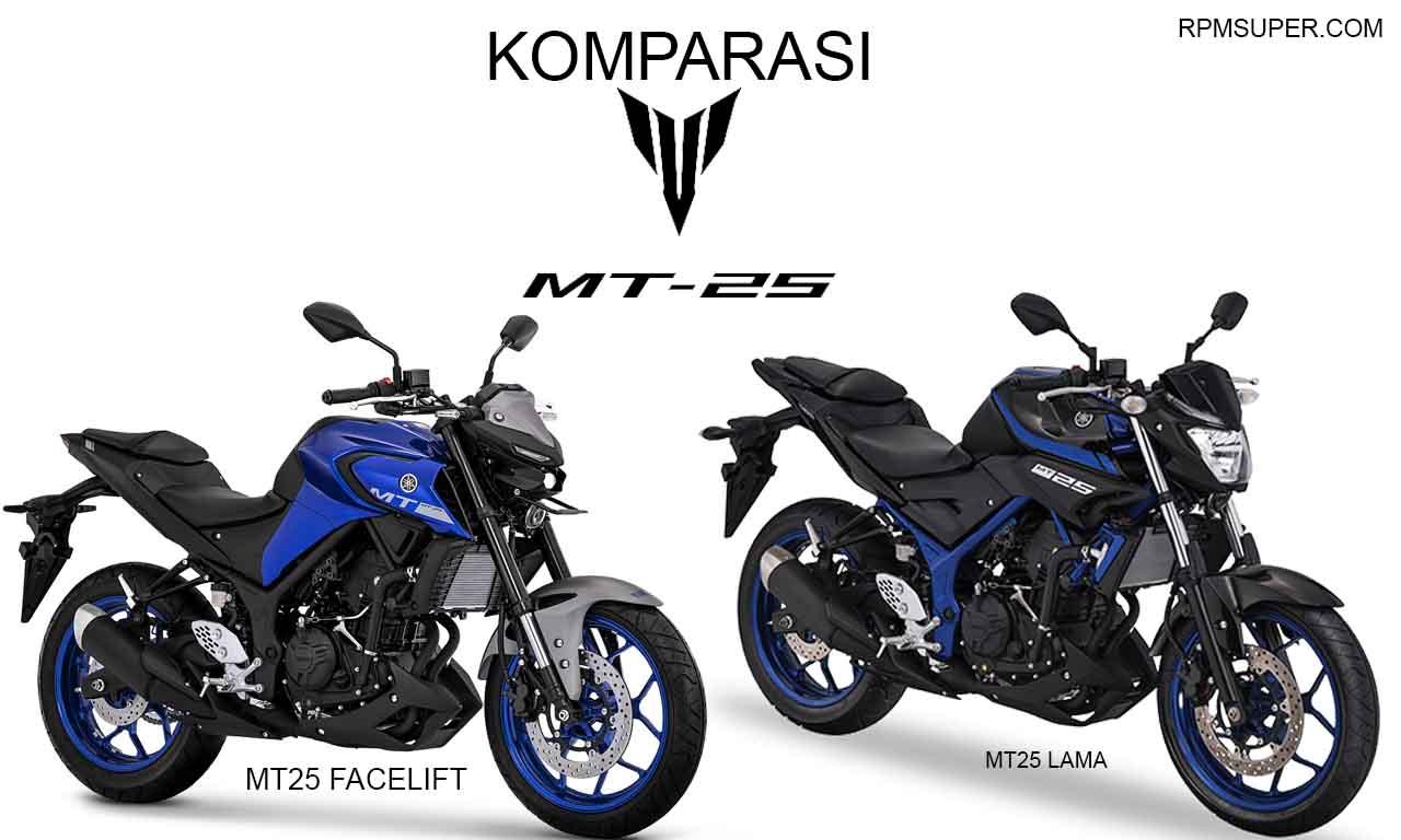 Perbedaan Yamaha MT25 Lama dan Baru