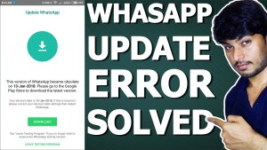 whatsapp update error solved