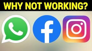 Whatapp Facebook Instagram Down - 04 October 2021