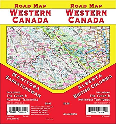 Road Map Western Canada