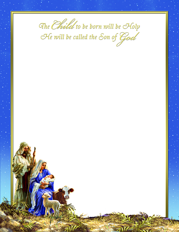 Stationery Sets Holy Family Letterhead