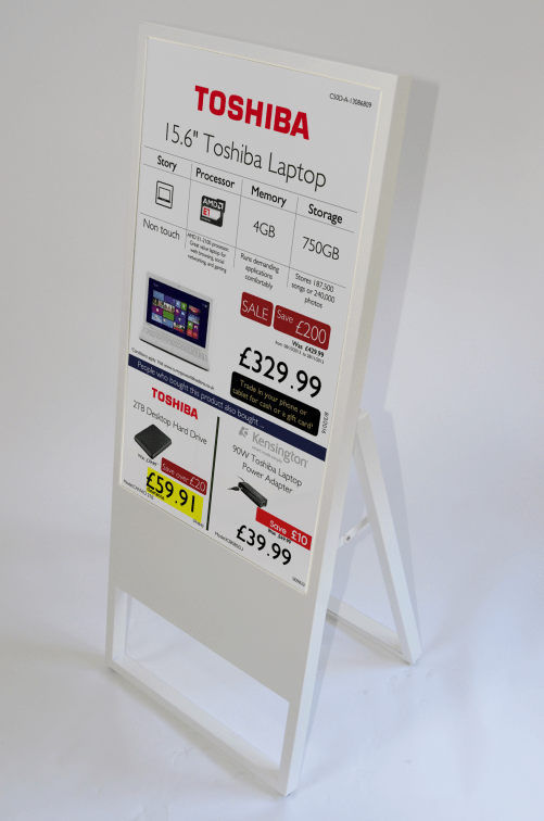 The mobile Digital A frame all weather screen from Sannova