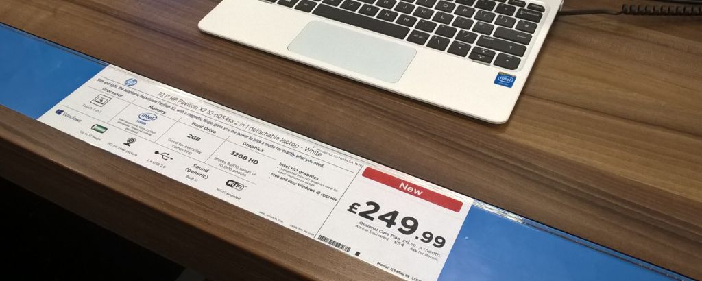 iRex produced shelf edge tickets