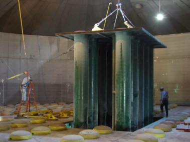 Installation of jet bubble reactor