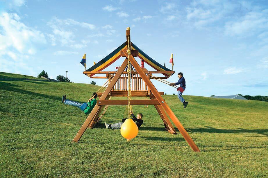 Rainbow Play Systems for Unlevel Yards on Unlevel Backyard Ideas id=36313