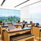 Microsoft Flagship store desks and big screen
