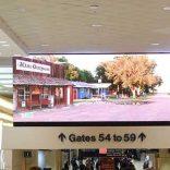 LAX Terminal overhead display screen