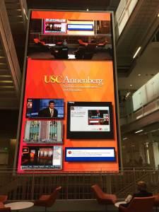 USC Annenberg LED Video wall