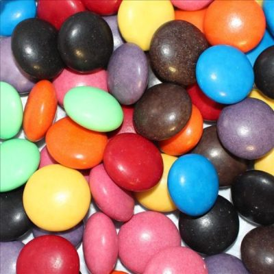 Large Gems Coloured Choc Drops