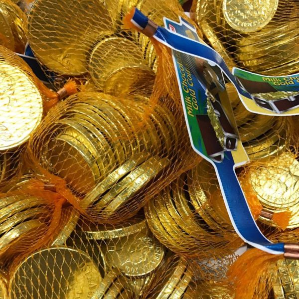 Milk Chocolate Gold Foiled Coins
