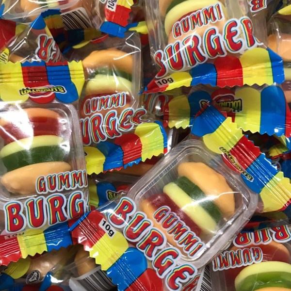 Gummy Burgers Wrapped
