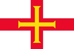 The flag of Guernsey was adopted in 1985 and consists of the red Saint George's Cross with an additional gold Norman cross within it.