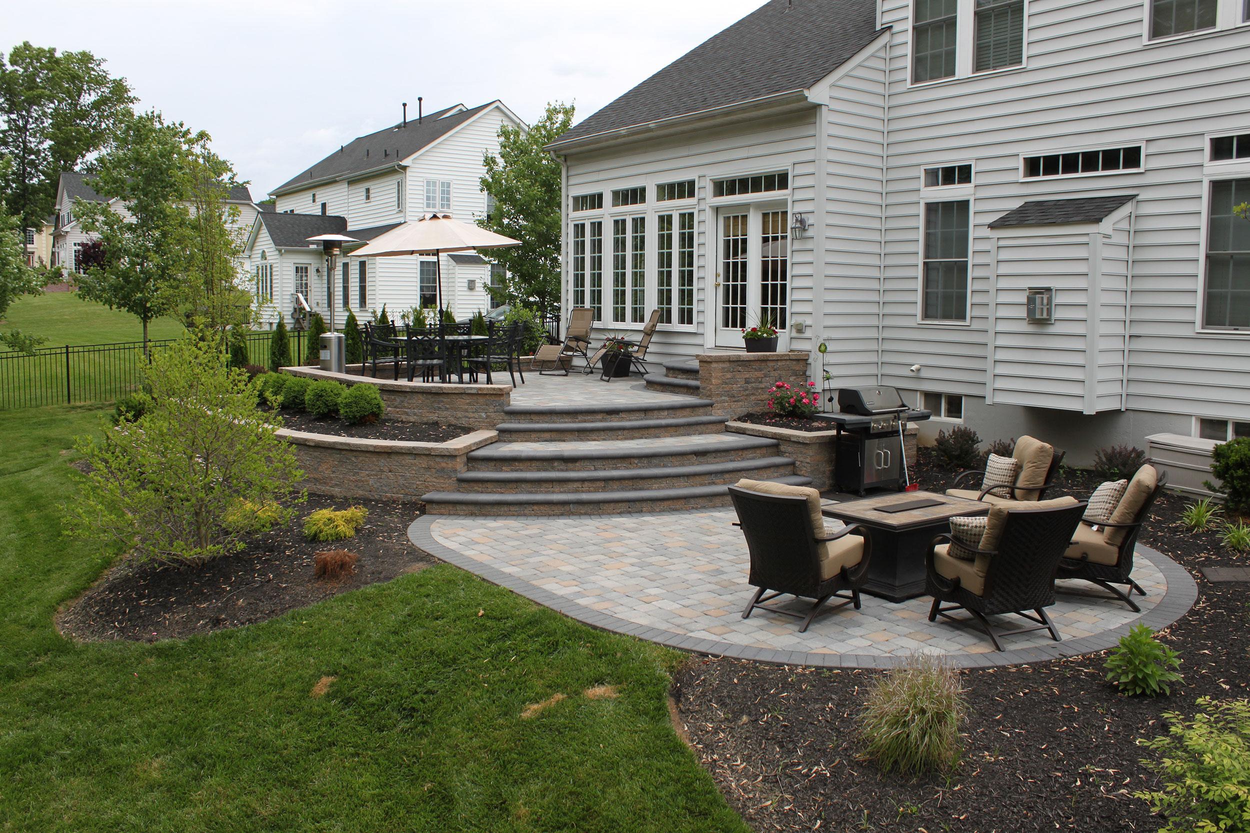 Doylestown Raised Patio | R&R Caddick Landscape Design on Raised Patio Designs  id=25486