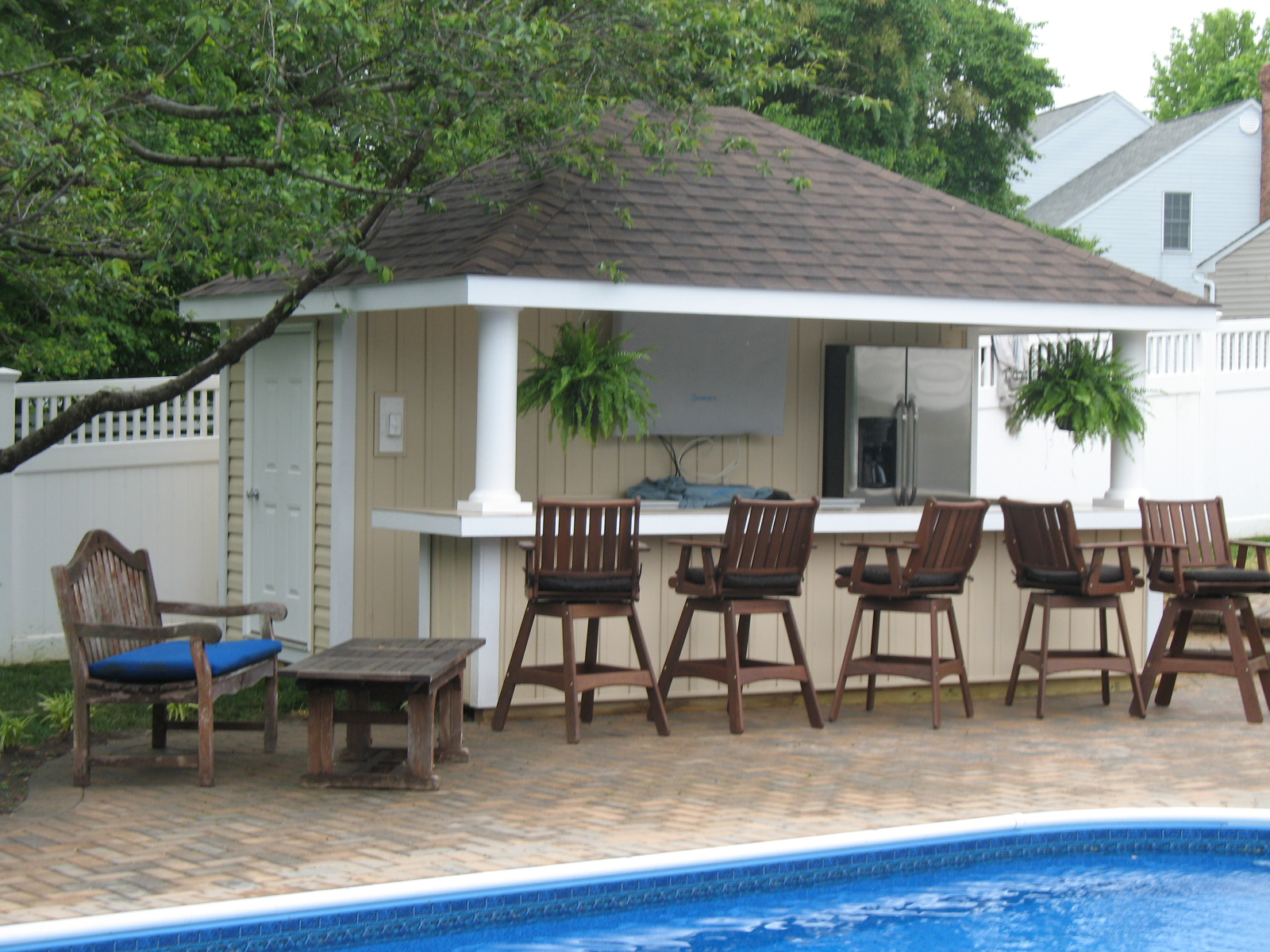 Custom Pool Houses | R&R Caddick Landscape Design on Backyard Pool Bar Designs  id=44061
