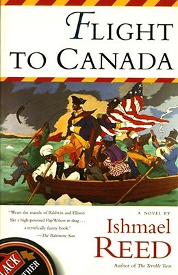 A cover of Flight to Canada with an illustration of Washington crossing the Delaware if everyone in the boat was black.