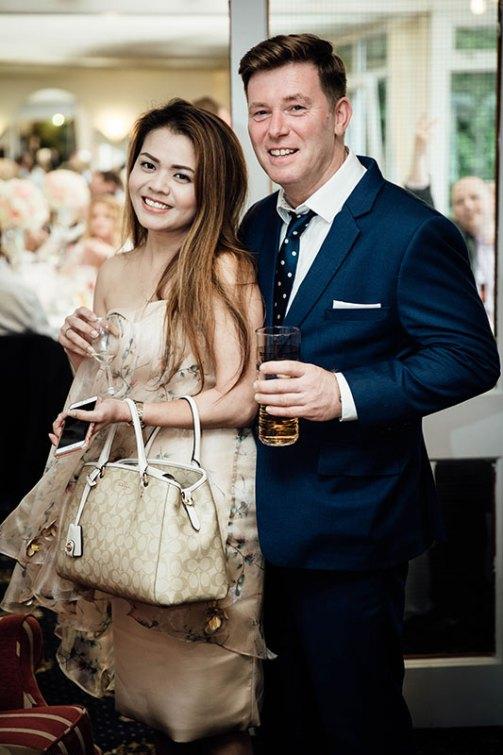 Couple portrait of wedding guests