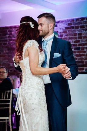 Bride and groom at the first dance