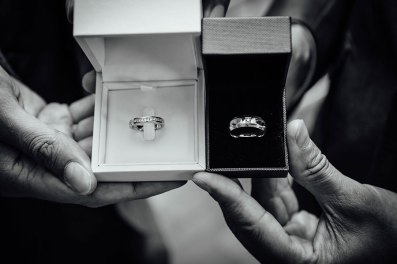 Photograph of the wedding rings