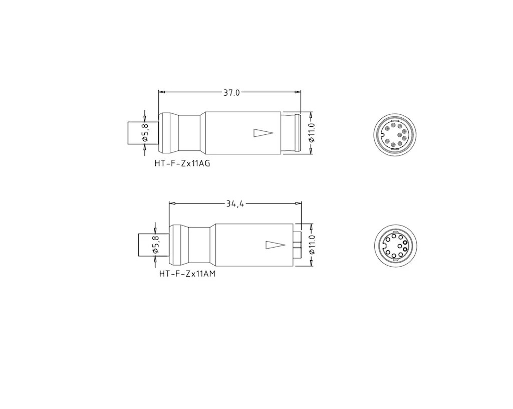 Signal 9 Pin Main Cable Z911a