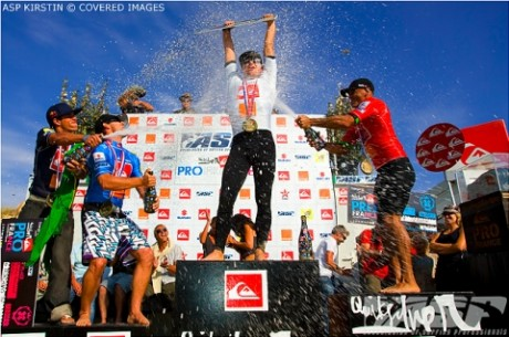 Adrian Buchan Beats Kelly Slater to be Crowned Quiksilver Pro France Champion