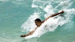 President-elect Obama catching one at Sandy Beach, HI
