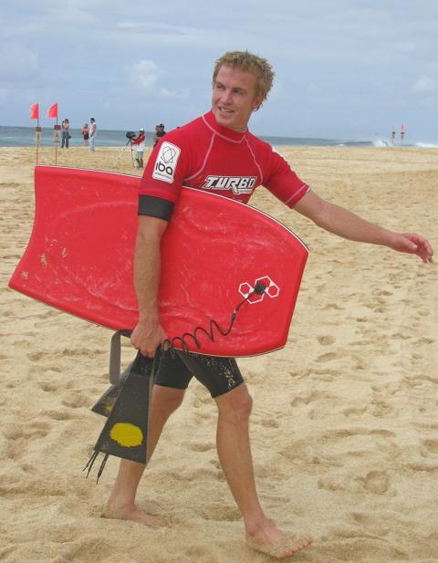 Jamie O'Brien bodyboards Pipe!