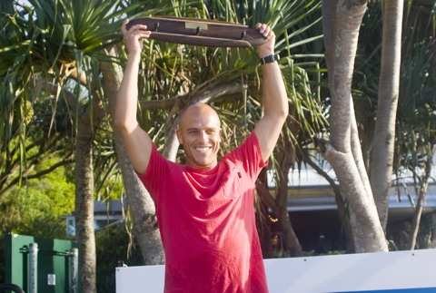 Dane Wilson with a victory grin. Photo: Steve Robertson/Surfing Australia