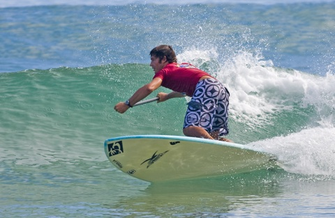 One of Australia's best, Queensland's James Weston (Burleigh Heads),  a likely contender at the first ever Stand Up Paddle Australian Surfmasters.