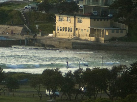 Not the most exciting conditions at Dee Why to start the day.